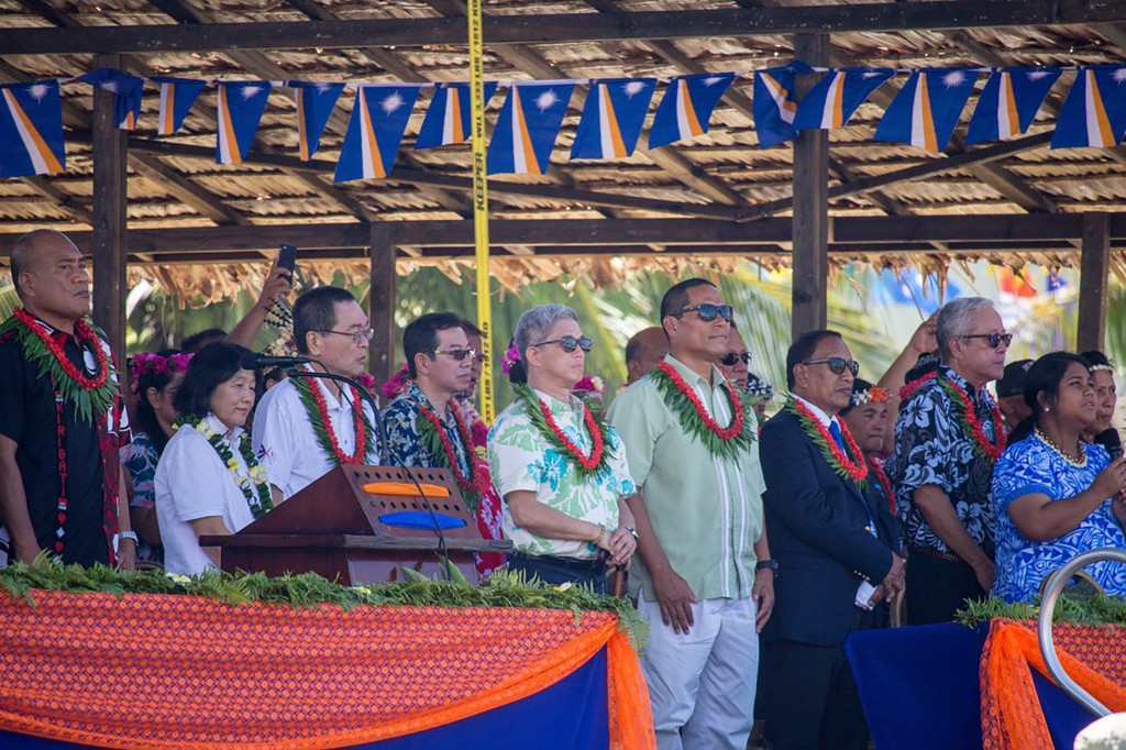 Deputy Minister of Foreign Affairs Hsu Szu-chien attending Marshall Islands Independence Day celebration on May 2.