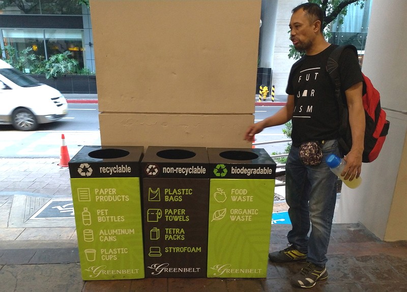 Recycling bins in Metro Manila