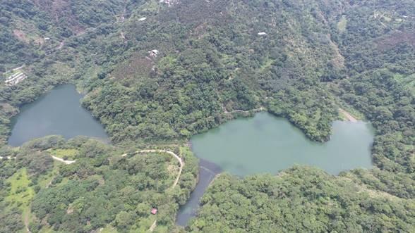 九份二山兩座偃塞湖已成為許多野生動物的樂園。(照片來源:特生中心 / 呂明倫攝)