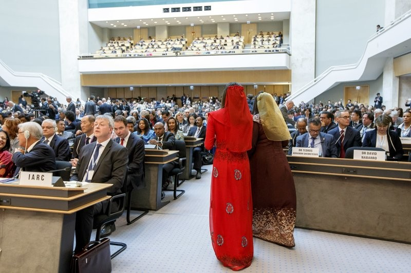 General view of the 70th World Health Assembly in 2017.