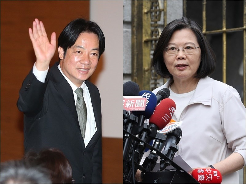 President Tsai (right) and ex-Premier Lai have reportedly agreed on an opinion poll formula.