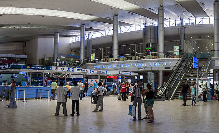 Departure floor at Cam Ranh International Airport