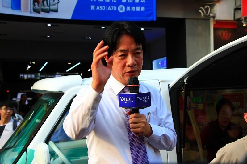 Ex-Premier William Lai. (CNA photo)