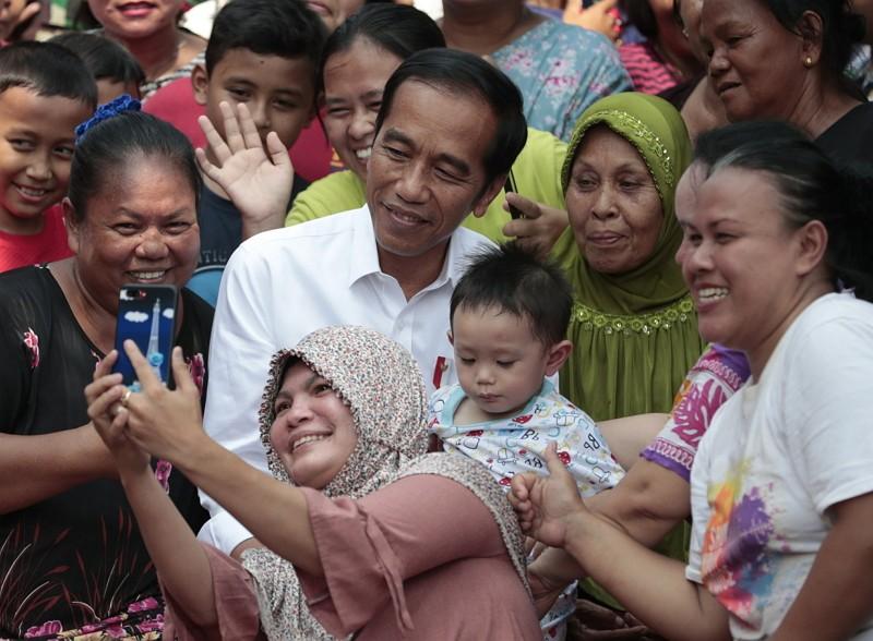 印尼現任總統佐科威獲連任(AP)