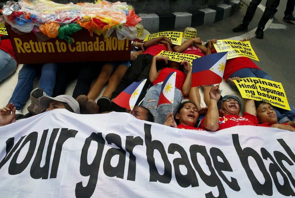 Environmentalists had protested outside the Canadian embassy in Manila for Canada to retrieve its waste.
