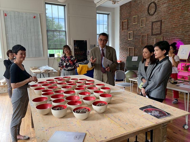 Cheng Li-chiun visits art center Halcyon (Photo/Mi...