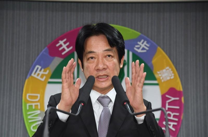 William Lai at DPP headquarters