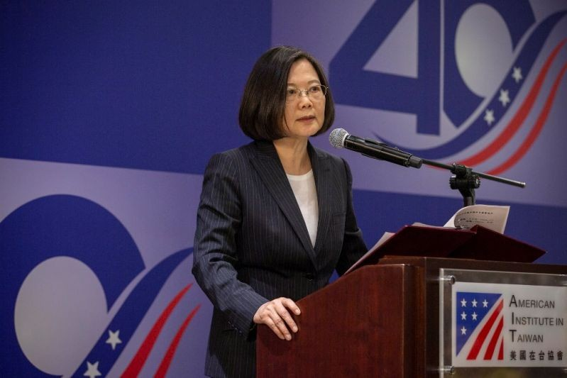 File Photo: Tsai Ing-wen at event commemorating 40 years of Taiwan Relations Act, April 2019 (Taiwan Today photo)