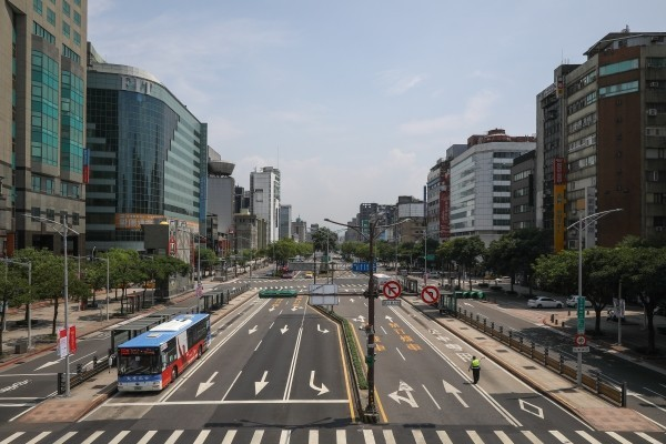 Zhonghua Road during Wan An drill. (Photo by Andy Ip)