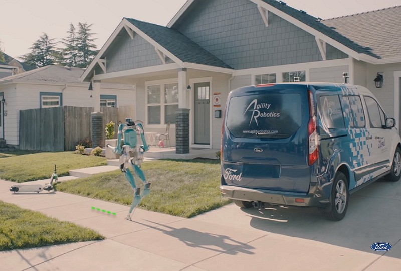 福特送貨機器人Digit(圖/福特官方影片擷圖)