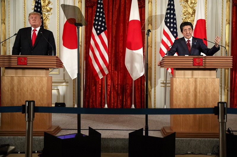 Donald Trump, Shinzo Abe hold joint press conference (AP)