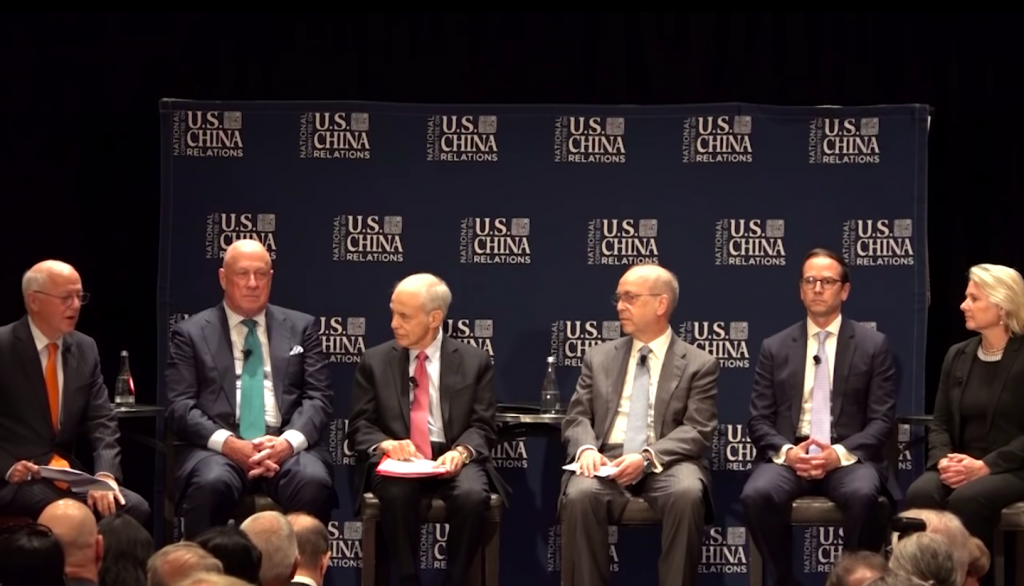 Screencap of the expert panel. (National Committee on U.S.-China Relations)