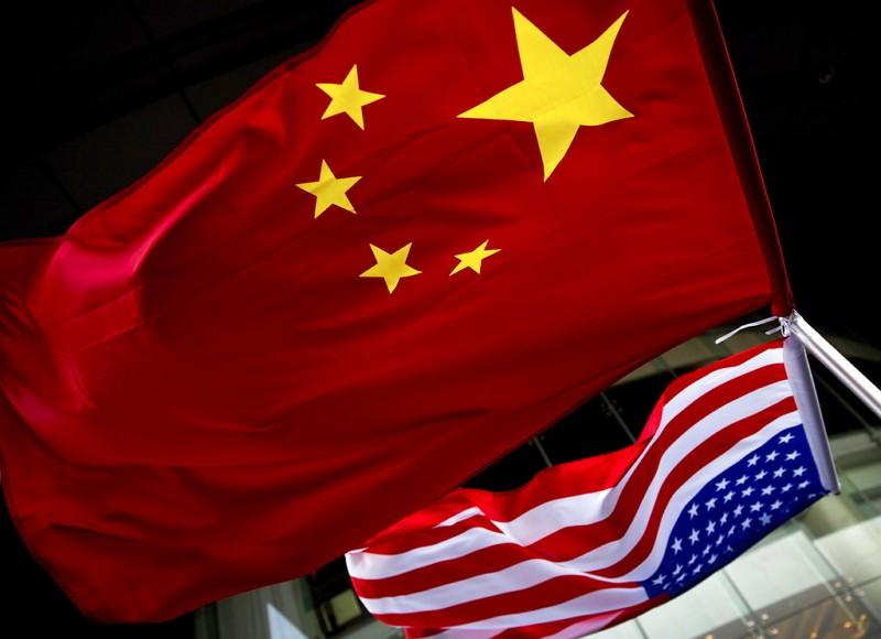 美國中國國旗(AP)
