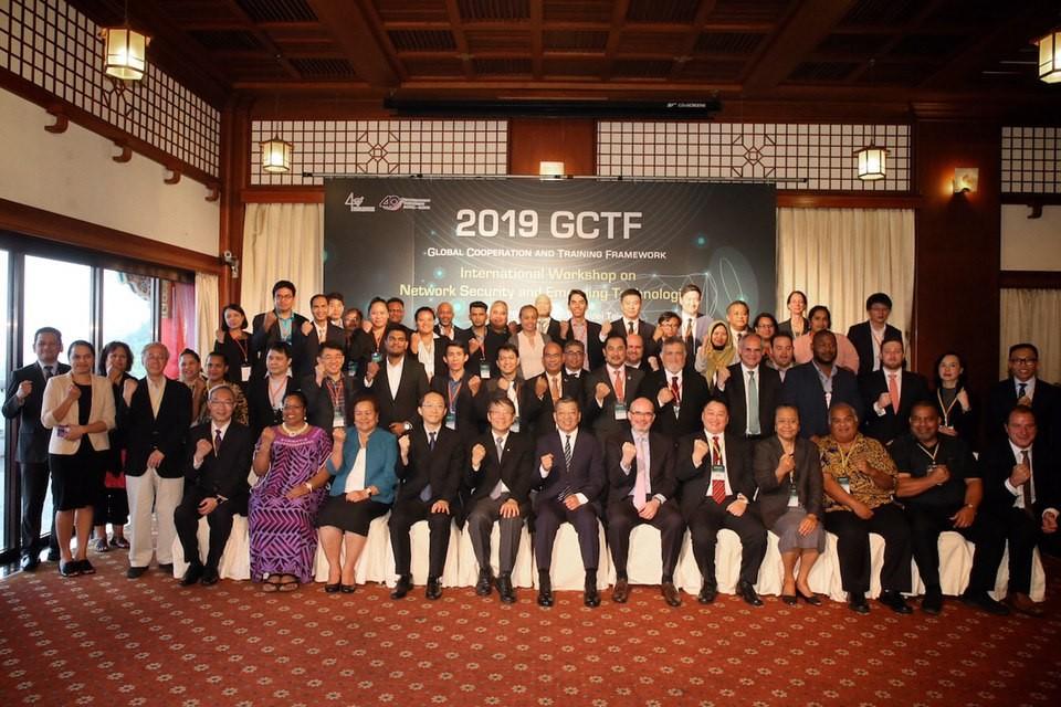 由台、美、日三方共同舉辦的「網路安全與新興科技國際研習營」28日在台北舉行開幕式(照片來源:外交部提供)