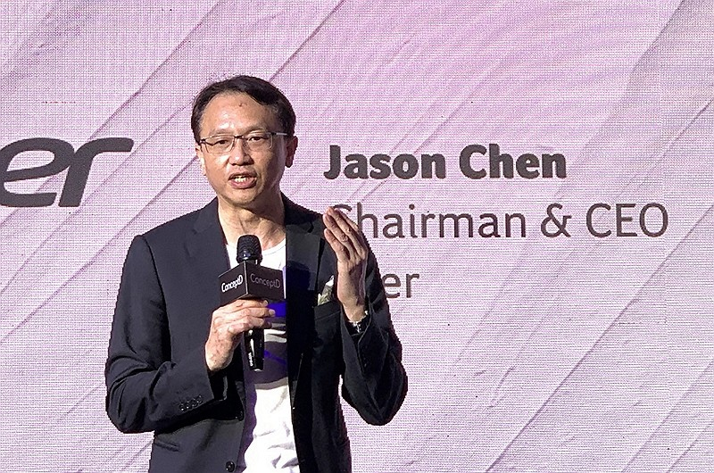 Jason Chen, Chairman & CEO of Acer (CNA photo)