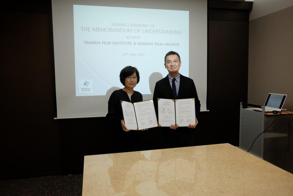 (L-R) KOFA Director Joo Jinsook and TFI Director Chen Pin-chuan (Source: TFI)