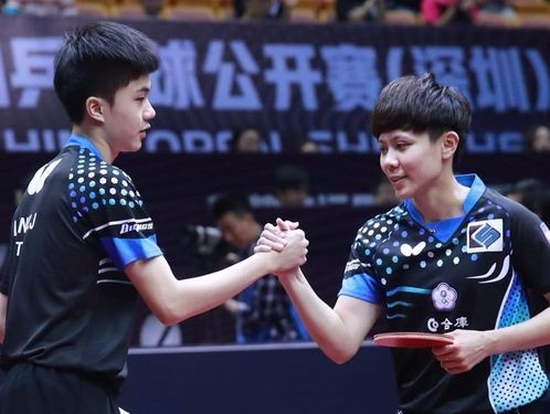 Table tennis champions Lin Yun-ju (left) and Cheng I-ching