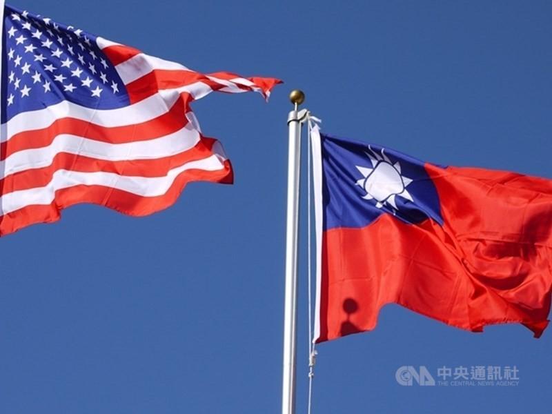 台美國旗(照片來源:資料照片/中央社提供)