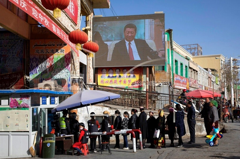 Ethnic Turkic Muslims in Xinjiang. (AP photo)