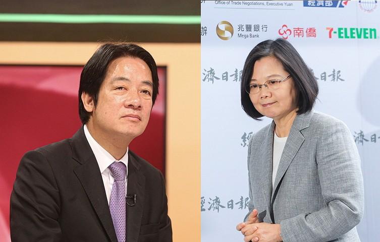 賴清德(左)/蔡英文
