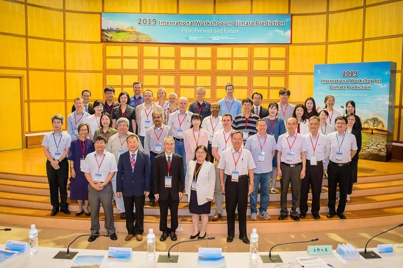 Meteorology experts at the opening of the International Workshop on Climate Prediction (Courtesy of CWB)