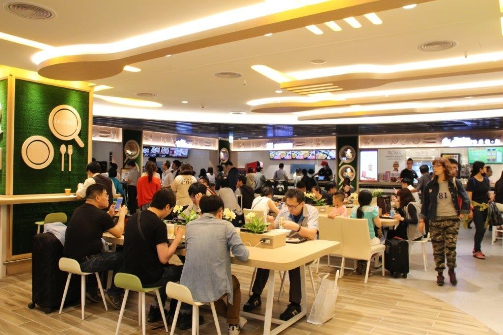 The Atlas of Taiwan Gourmet food court at Taiwan Taoyuan International Airport