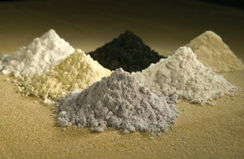 Rare earth oxides. (Wikimedia Commons photo)