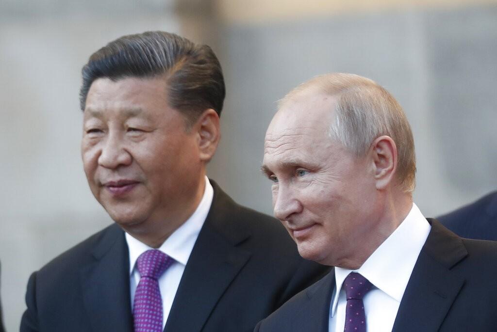 習近平赴莫斯科與普丁會談(圖/ AP)