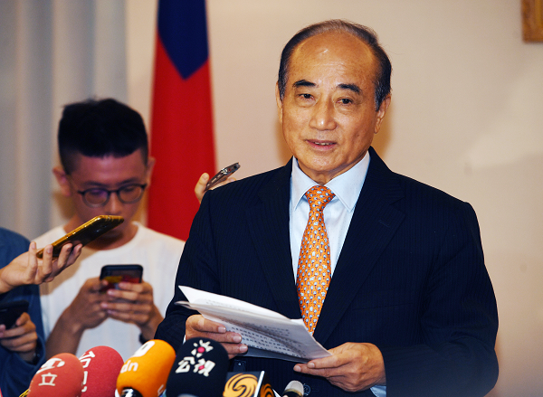 Wang Jin-pyng speaks to media, June 6