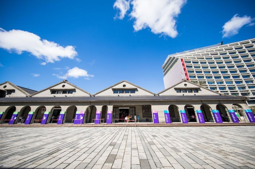 Former warehouses serve as popular exhibition venues at Songshan Cultural and Creative Park (Photo/Taiwan Today/Taiwan Design Center)
