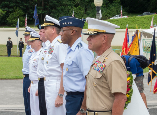 US INDO-PACOM officers at Memorial Day ceremony in Hawaii, May 27, (photo from INDO-PACOM twitter acct.)
