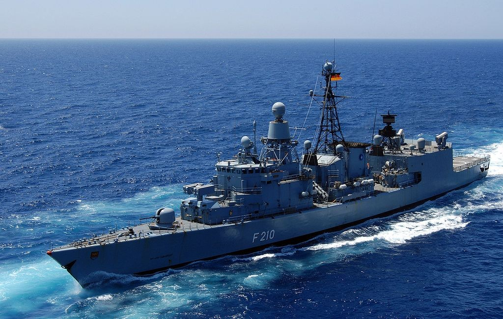 German Bremen class frigate, the F 210 Emden, decommissioned in 2013