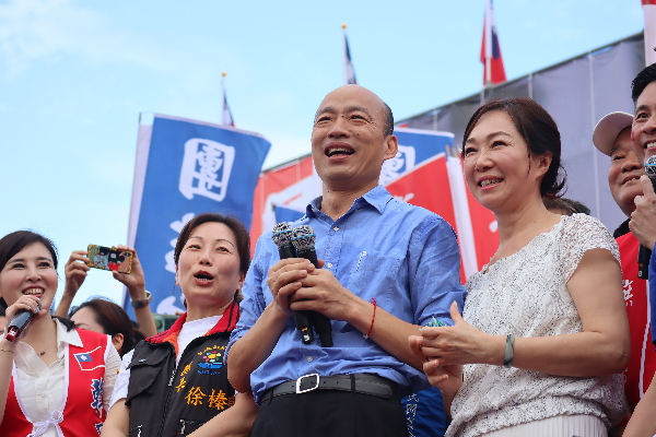 Han Kuo-yu at a rally in Hualien, June 8