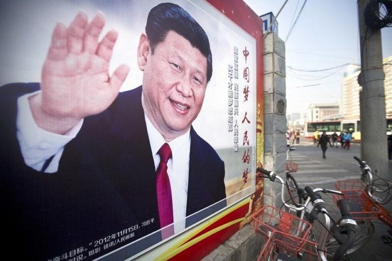 北京街頭習近平看板(AP)