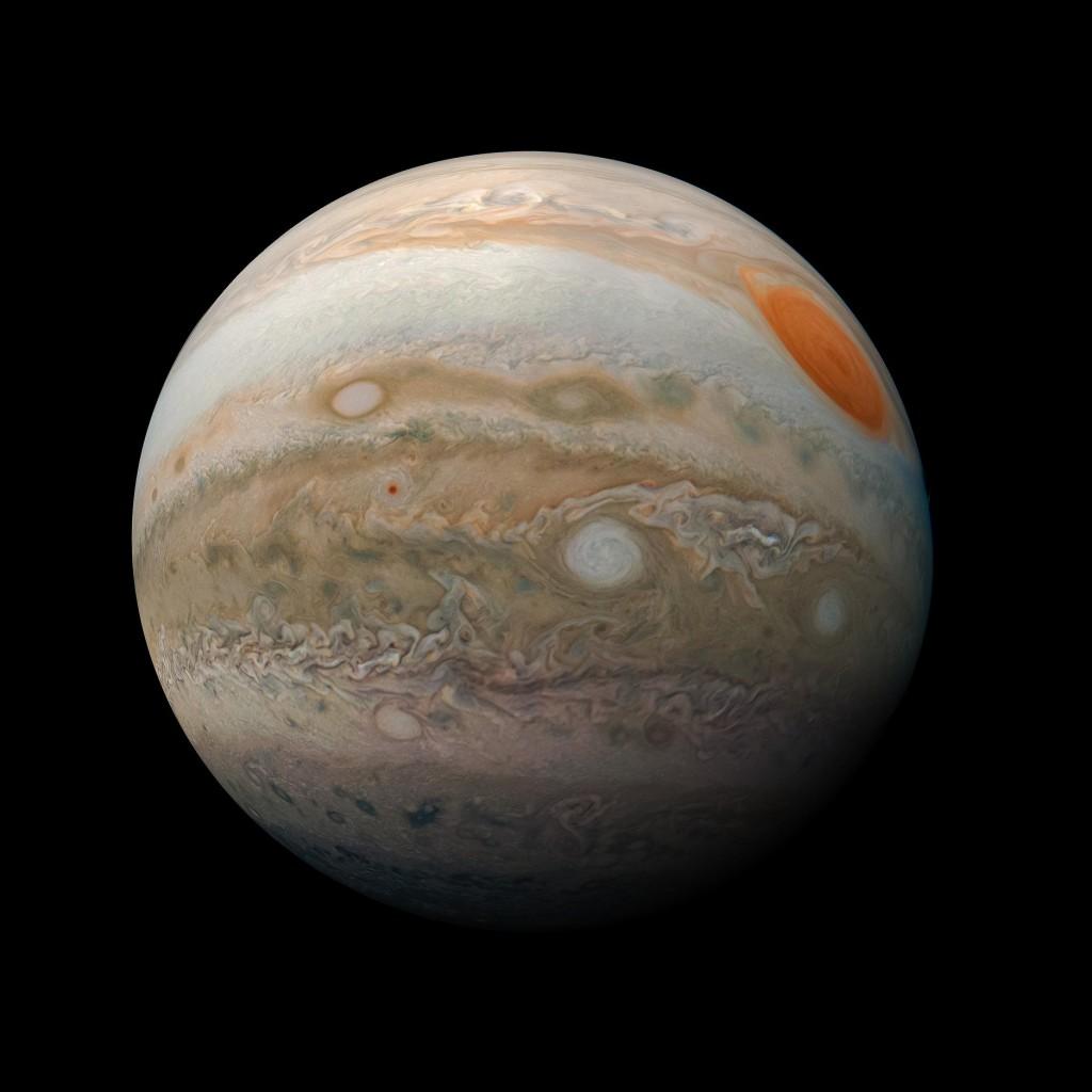 木星。(照片轉載自NASA 5月21日的臉書)