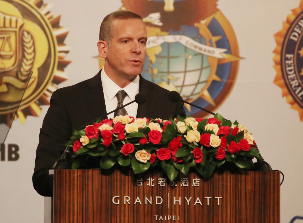 FBI Associate Deputy Director Paul Abbate speaks at the opening of the National Academy Association Asia-Pacific Chapter Conference on June 10