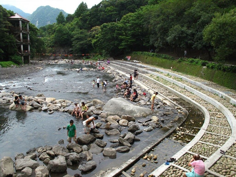 The Yunei River water frolicking area. (Taoyuan City Government photo)