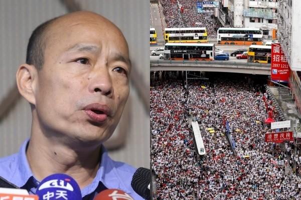 Han (left), Hong Kong protestors (right). (CNA, AP photos)