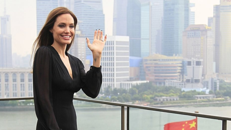 Angelina Jolie in Shanghai
