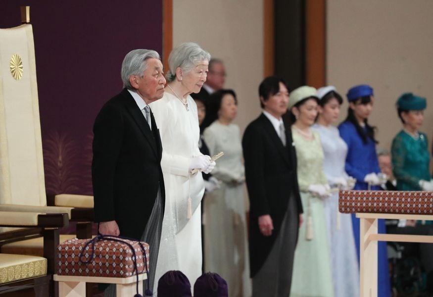 明仁天皇夫婦(非本次參訪照片)(圖/ 中央社)