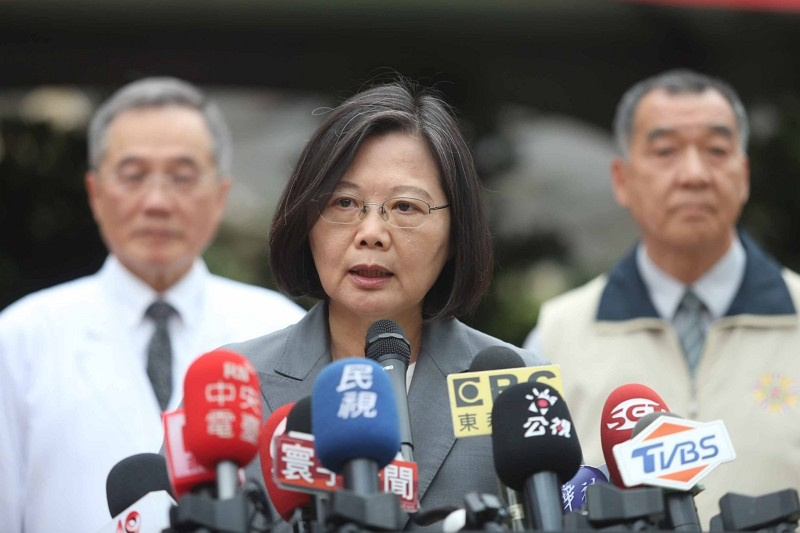 President Tsai Ing-wen speaks on demonstrations in Hong Kong, June 10 (CNA file photo)