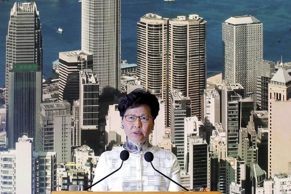 香港特首林鄭月娥(照片來源:美聯社提供)
