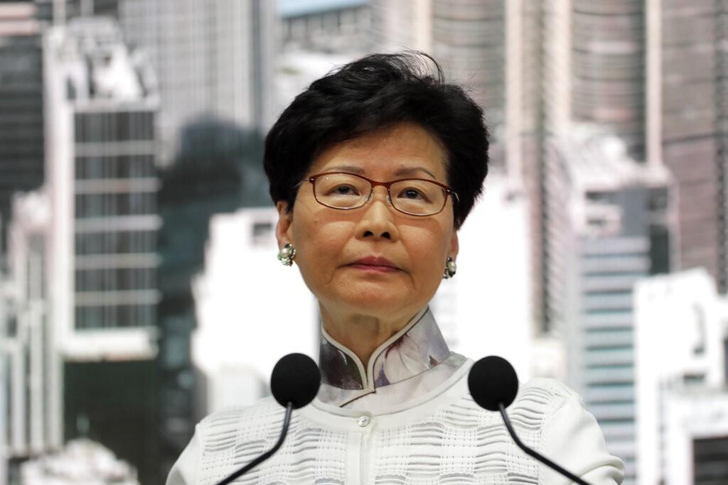 香港現任特首林鄭月娥(圖/ AP)