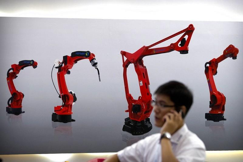 Chinese manufacturing machinery (AP)