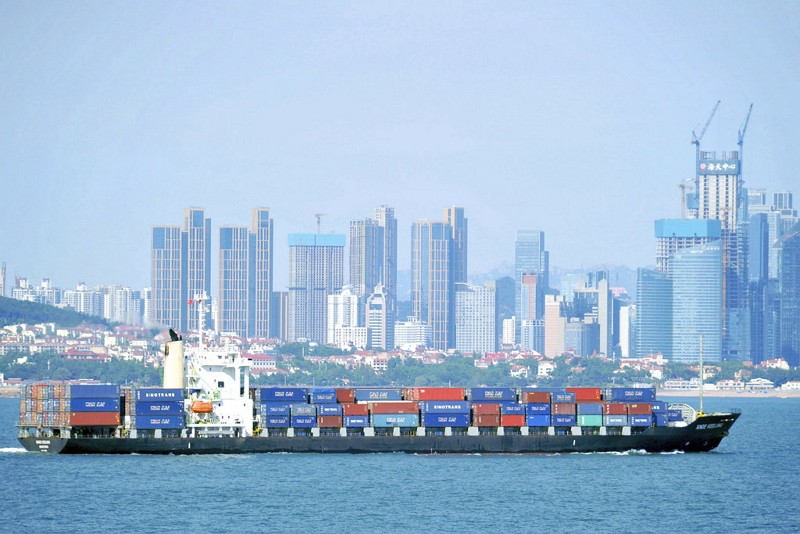 Qingdao Port in China (AP)