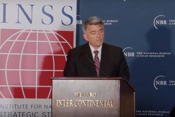 Senator Cory Gardner (Screen grab from NBR video)