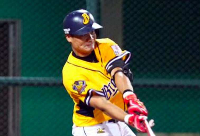 王勝偉差點第2次完全打擊,最近找到擊球力道(圖/台灣棒球維基館)