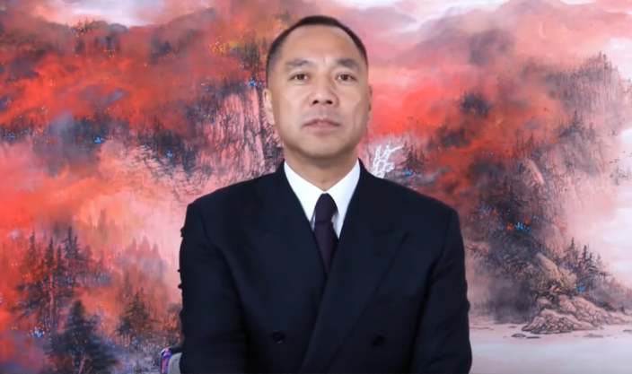 (Screen grab from Guo Wengui's YouTube)