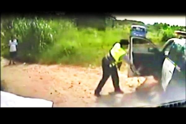 Screenshot of police video.