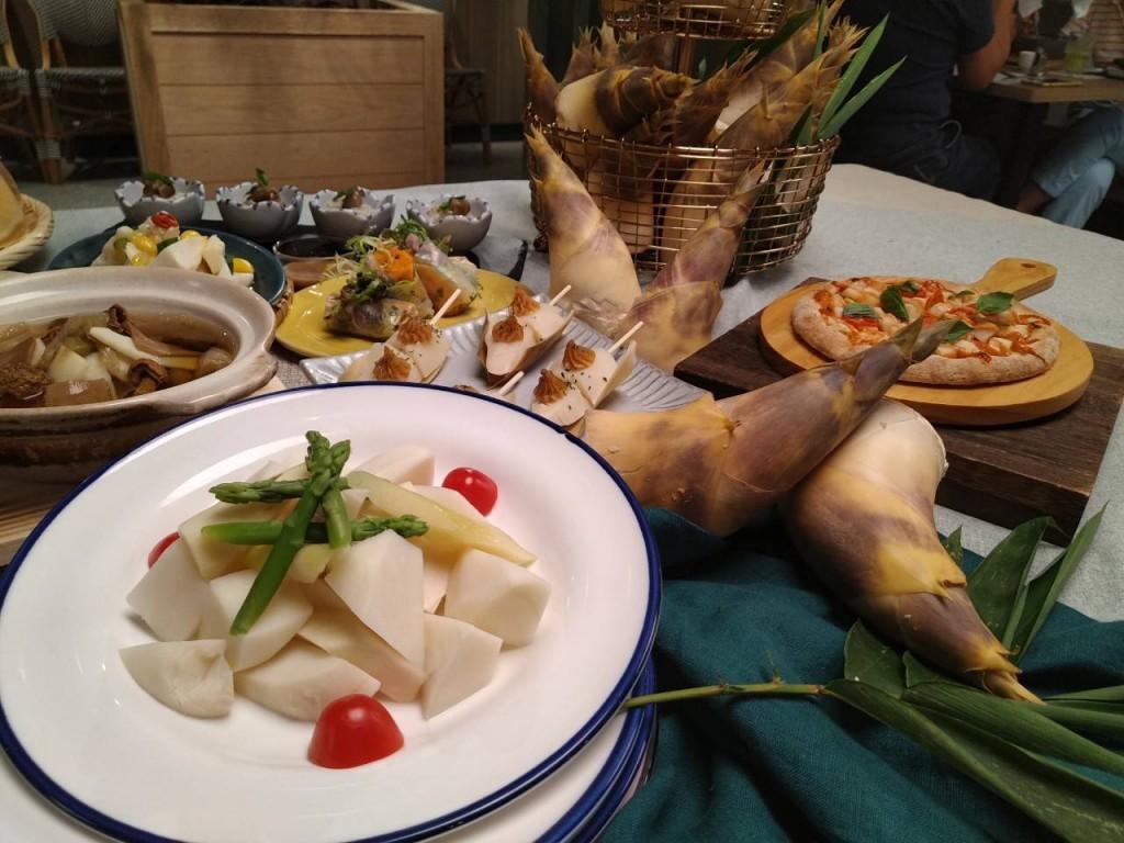 果然匯新北綠竹筍祭創意料理 (新北市政府農業局提供)